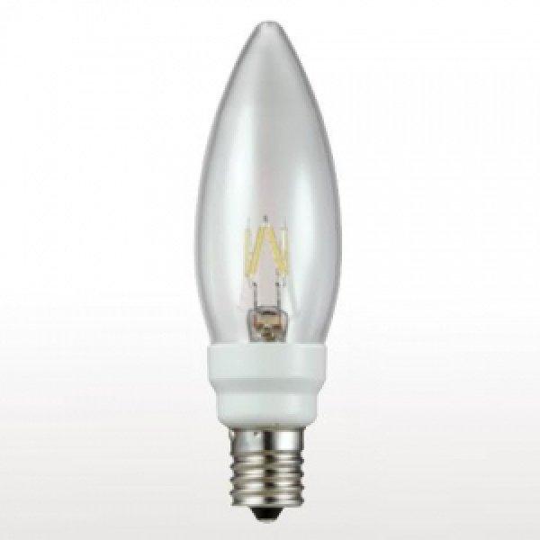画像1: 【バラ】ウシオ LDC2L-G-E17/D27/3 ●LED電球 シャンデリア形 調光対応 全光束:36lm 白熱球10W相当 【E17口金】 直径:32mm (1)
